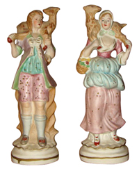 Pair of figurines marked Occupied japan