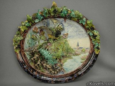 Landais palissy ware platter