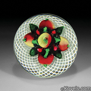 Paperweight, bouquet of fruit