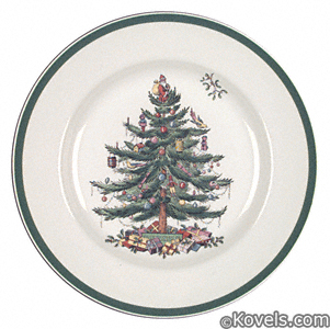 Plate, Spode Christmas Tree
