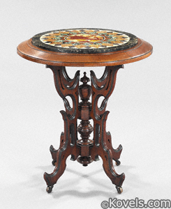 Specimen marble-top occasional table