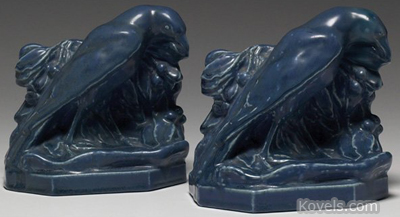 Rookwood bookends, rook