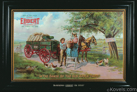 Ebbert Wagons Tin Advertising Sign