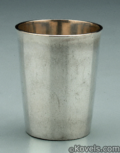Virginia coin silver beaker