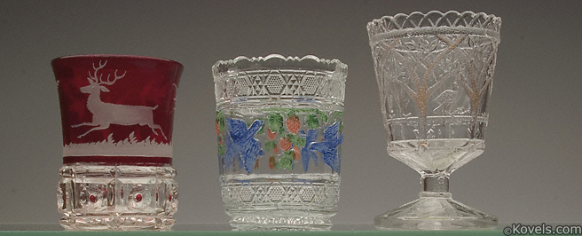 Pressed Glass Spooners