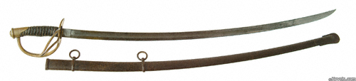Roby 1860 pattern cavalry saber, Civil War