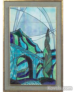 Tile, mosaic, Harris Strong, aqueduct