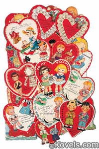 Valentine paper dolls
