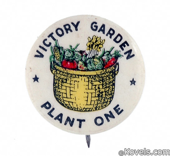 World War I Victory Garden Button