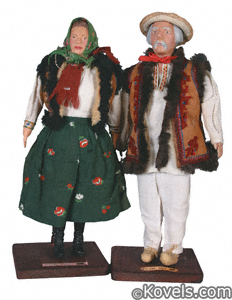 WPA dolls, Poland couple