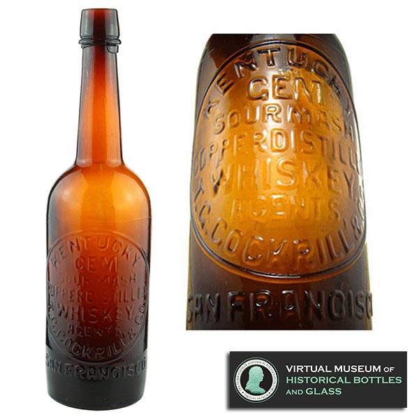 kentucky gem whiskey glass bottle fohbc museum