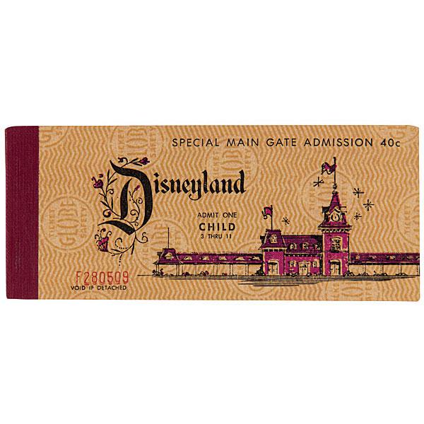 Child's ticket book, Disneyland