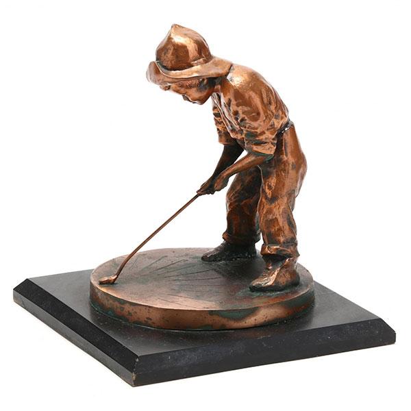 golf putter boy sundial trophy