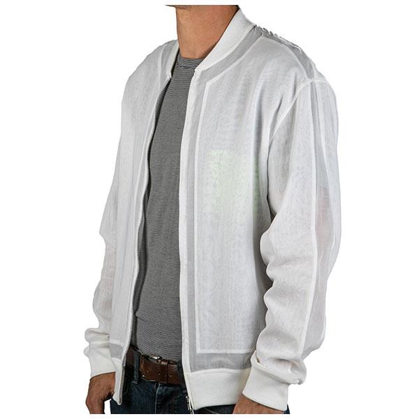 hermes mens white sheer bomber jacket