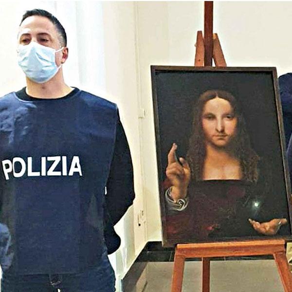 500 year old copy of leonardo da vinci painting salvator mundi found in naples italy 2021