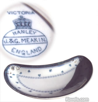 crescent-shaped bone dish meakin