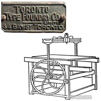 toronto type foundry co plough paper cutter