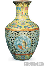 reticulated chinese vase