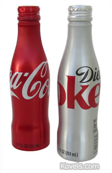 Bottle-shaped Coke cans