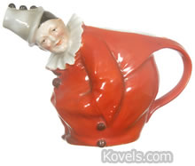 Royal Bayreuth Red Clown Water Pitcher
