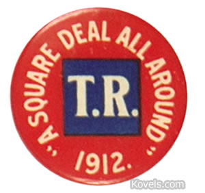 Political button - Theodore Roosevelt