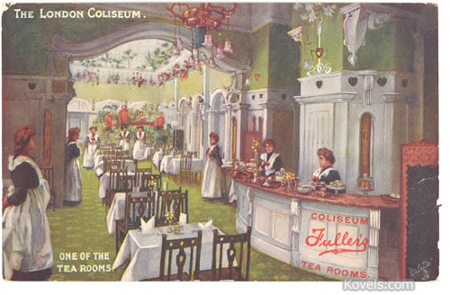 London Tea Room Postcard