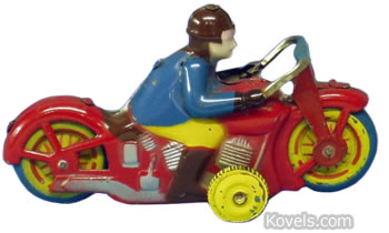 Tin motorcycle toy marked Occupied Japan