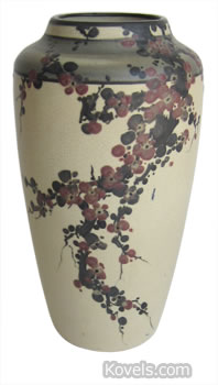 Weller Hudson vase with cherry blossoms