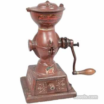 Crown countertop coffee mill
