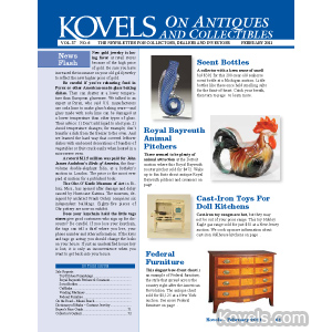 Kovels on Antiques and Collectibles Vol. 37 No. 6