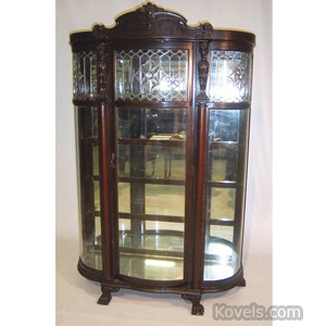 Quartersawn oak china cabinet