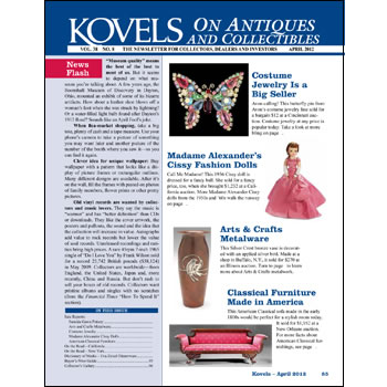 Kovels on Antiques and Collectibles April 2012 Newsletter