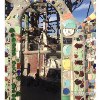 Closeup of Watts Tower, Los Angeles