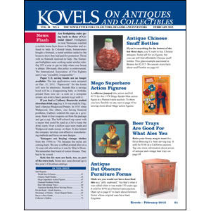 Kovels on Antiques and Collectibles Vol. 38 No. 6