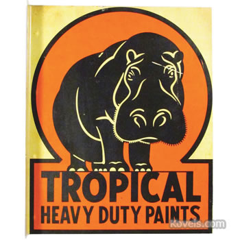 Tropical Heavy Duty Paints sign