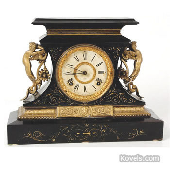 "Ansonia ""Rosalind"" iron mantel clock"