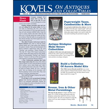 Kovels on Antiques and Collectibles Vol. 38 No. 7