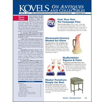Kovels on Antiques and Collectibles Vol. 39 No. 3