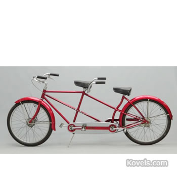 Circa 1954 Schwinn male-female tandem bicycle