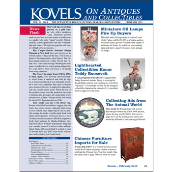 Kovels on Antiques and Collectibles Vol. 39 No. 6