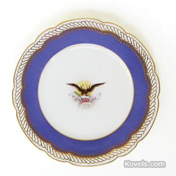 Breakfast plate from Abraham Lincoln's state service