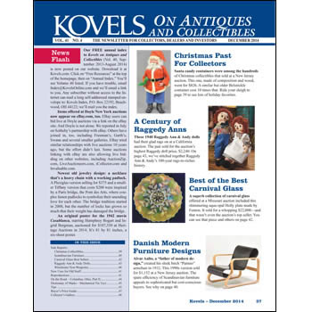 Kovels on Antiques and Collectibles Vol. 41 No. 4 – December 2014