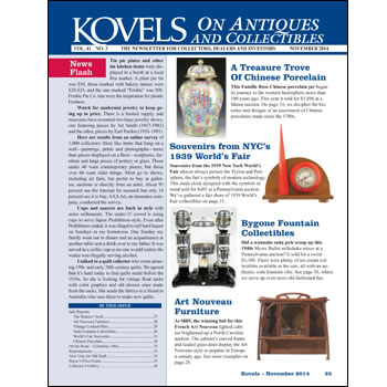Kovels on Antiques and Collectibles Vol. 41 No. 3 – November 2014