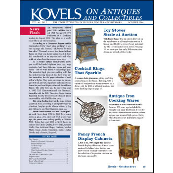 Kovels on Antiques and Collectibles Vol. 41 No. 2 – October 2014