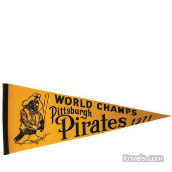 Original 1971 Pittsburgh Pirates World Series Champs pennant