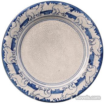 Dedham Pottery Polar Bear plate