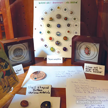Button display - York, Maine, Public Library