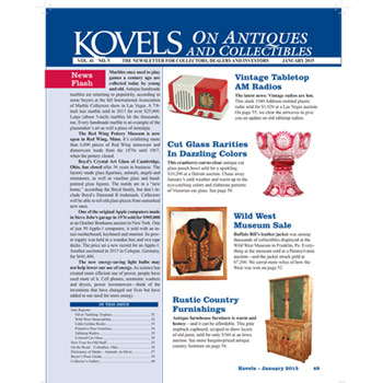 Kovels on Antiques and Collectibles Vol. 41 No. 5 – January 2015