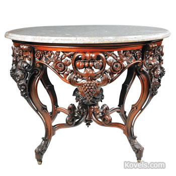 American Rococo center table