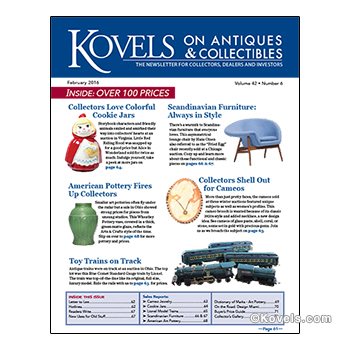 Kovels on Antiques and Collectibles Vol. 42 No. 6 – February 2016